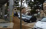 Obres de condicionament i plantació als parterres de la plaça Milà i Fontanals de Vilafranca