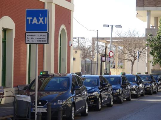 Parada de taxis de Vilafranca. Ramon Filella