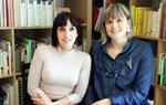 Pla mig de la Cristina Vila i la Marta Escarrà, dues de les impulsores del vídeo, aquest divendres 13 d'abril de 2018. ACN