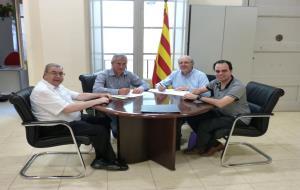 Signat el conveni entre l'Ajuntament de Sant Martí Sarroca i el Consell Comarcal de l'Alt Penedès per tirar endavant els projectes de museïtzació