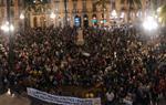 Concentració multitudinària a Vilanova i la Geltrú contra la sentència del Tribunal Suprem