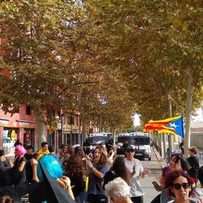 El CDR de Vilanova talla la rambla Exposició amb unes