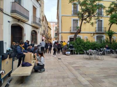 El nucli antic de Vilanova acull el rodatge del més nou de Captain Tsubasa, els populars Oliver i Benji. EIX