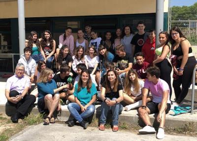 Els alumnes de 4rt d'ESO de l'Institut Dolors Mallafrè de Vilanova i la Geltrú. Eix