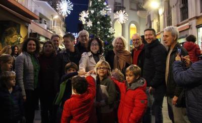 Encesa de l'enllumenat de Nadal a Sitges. Laura Bregante