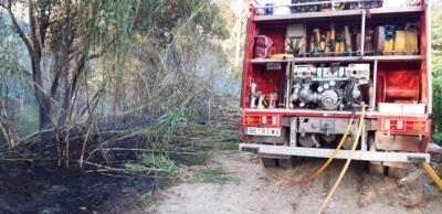 Ensurt per un foc forestal al Camí del Riu de Sant Sadurní. Ajt Sant Sadurní d'Anoia