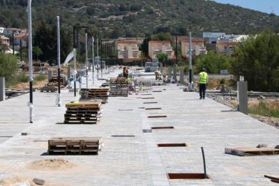 Gran pla general del sector la Plana de Sitges, en ple procés d'urbanització i obres d'obertura de carrers. ACN