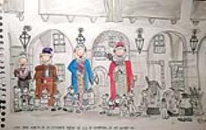Imatge de la maqueta de portada del Calendari de Vilanova i la Geltrú