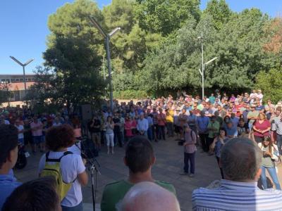Imatge de la protesta de viticultors aquest 14 d'agost de 2019 a Vilafranca del Penedès. JARC
