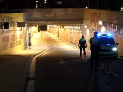 La policia de Vilanova denuncia penalment tres conductors per positius en el control d'alcohol i drogues. Policia local de Vilanova