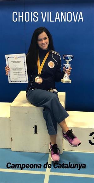 Patrícia Rubio, el relleu d'una campiona a l'escola Choi's