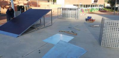 S'amplia l'skate park de Can Dori, a Canyelles. Ajuntament de Canyelles