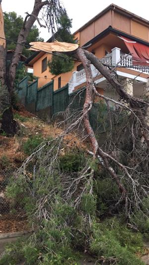 Sitges registra diverses incidències a conseqüència de la pluja i la forta pedregada