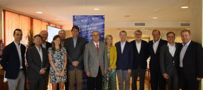 Trobada entre el Col·legi d'Economistes de Catalunya (CEC) i la Federació Empresarial del Gran Penedès (FEGP) a Vilanova i la Geltrú. EIX