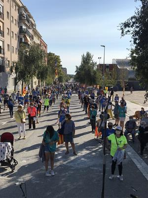 Concentració de la Diada Nacional de Catalunya a Vilafranca del Penedès
