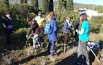 La festa de l'arbre de Canyelles planta 35 alzines al camí del cementiri