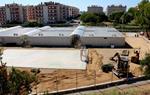 L'escola Vilamar de Calafell, en obres i amb trànsit constant d'excavadores a pocs dies de l'inici del curs 2020-21