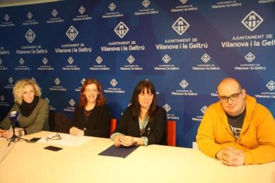 Roda de premsa de valoració del carnaval de Vilanova. Jordi Lleó