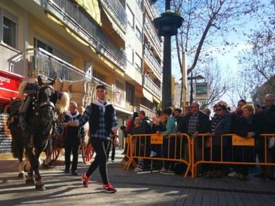 Sant Antoni omple Vilanova de cavalls, carros i carruatges i esperit de tradició. Ajuntament de Vilanova