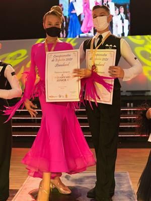 Campions d'Espanya junior 1 (12-13 Anys) Patrick Berbece i Sara Coman