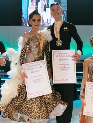 Campions d'Espanya junior 2 (14-15 Anys) Adrià Hernández i Yana Moiseenko