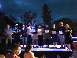 Canyelles lliura els premis del Primer Festival Literari amb un acte presencial al castell