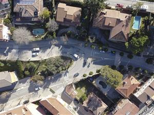 Comencen les obres de construcció d'una minirotonda a la travessera urbana de Gelida