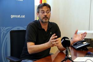 El nou delegat del Govern al Penedès, David Alquézar, durant l'entrevista amb l'ACN. Imatge publicada el 21 de juliol de 2021