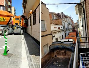 Els camions fent maniobres perilloses i fent talls de carrer sense cap informació als veïns
