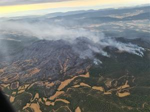 Estabilitzat el 90% de l'incendi de la Conca de Barberà i l'Anoia, que ha cremat 1.657 hectàrees