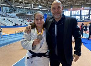 Judit Casañas subcampiona d'Espanya amb el seu entrenador