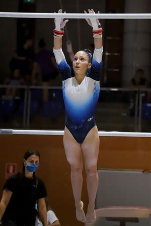 La gimnasta vilanovina Paula Raya