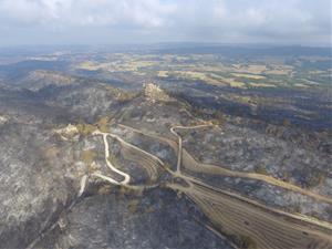 L'incendi de l'Anoia, a vista de dron