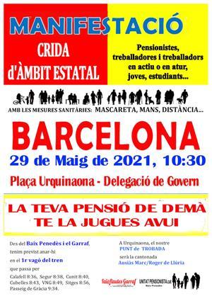 Manifestació del moviment pensionista