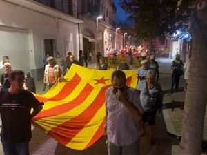 Marxa de torxes a Sant Pere de Ribes