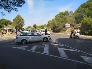 Protesta dels veïns del Prat de Vilanova per denunciar el