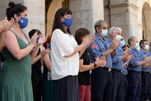 Vilanova plora la mort d'un bomber de 30 anys en un incendi en la seva segona guàrdia al cos