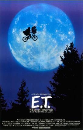 Cartell de E.T. el extraterrestre.