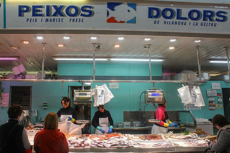 PEIXOS DOLORS - Mercat del Centre - Vilanova i la Geltrú. Eix Guia