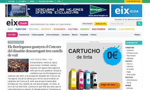 Eix Diari és un nou projecte periodístic que neix hereu de Vilanova Digital i que s'ha acompanyat d'una àmplia reflexió al voltant del disseny i la maquetació del web